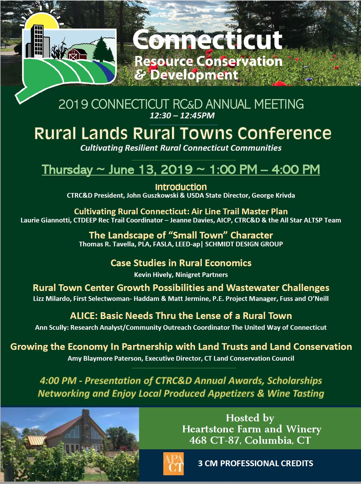 2019 Rural Lands Rural Towns Conference – Connecticut Resource